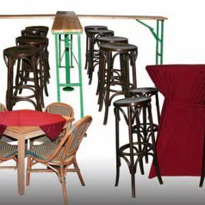 Horecameubilair, bars, tafels & stoelen, etc.